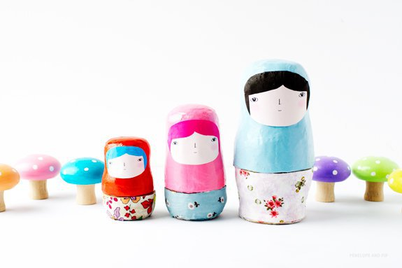 Paint Your Own Nesting Dolls