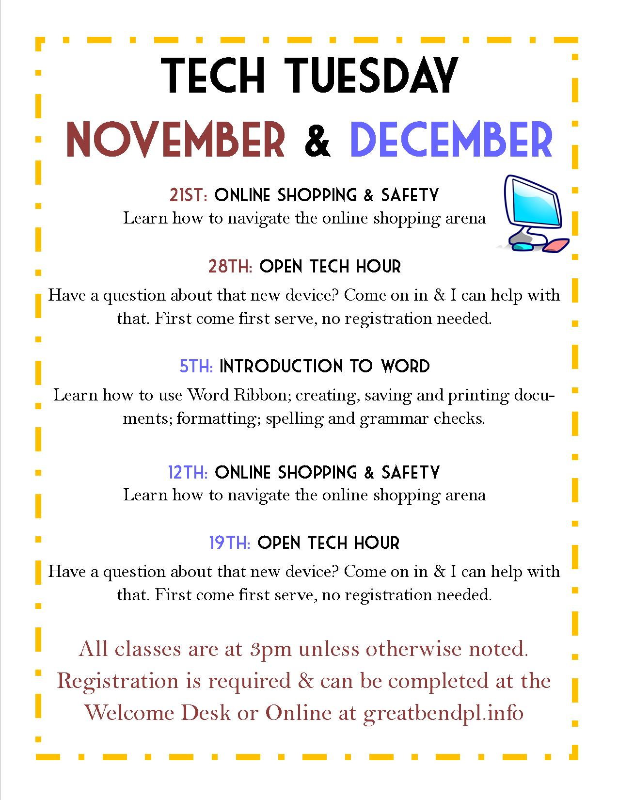 Tech Tuesday: Online Shopping & Safety
