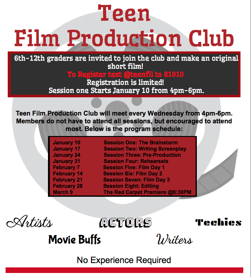 Teen Film Production Club