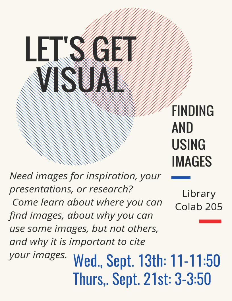 Let's Get Visual: Finding and Using Images