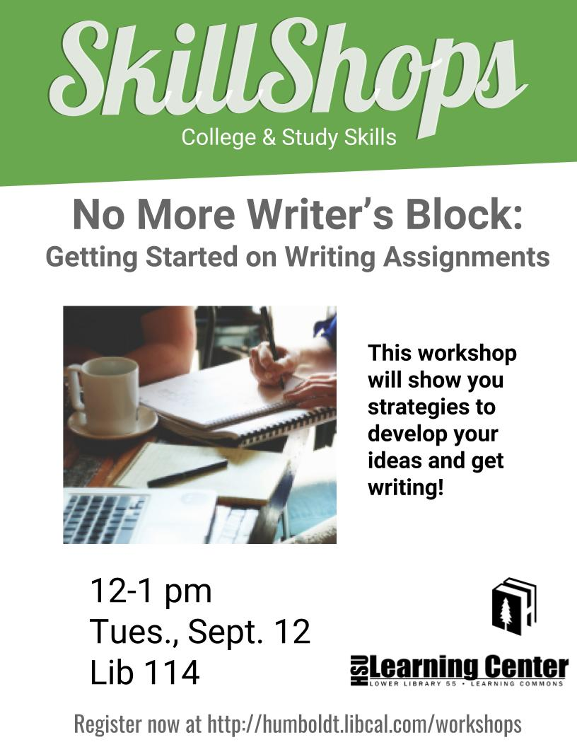 No More Writer's Block: Getting Started on Writing Assignments