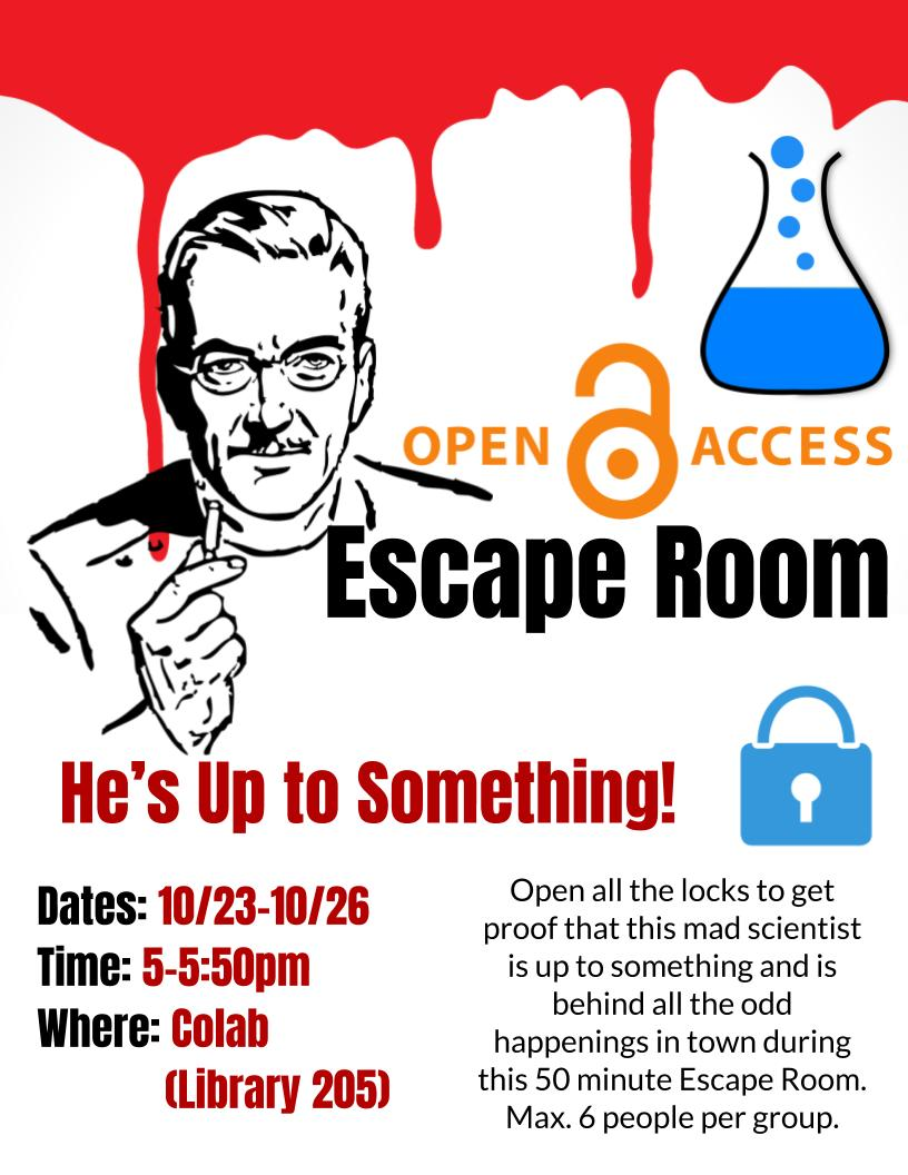 Open Access Week Escape Room