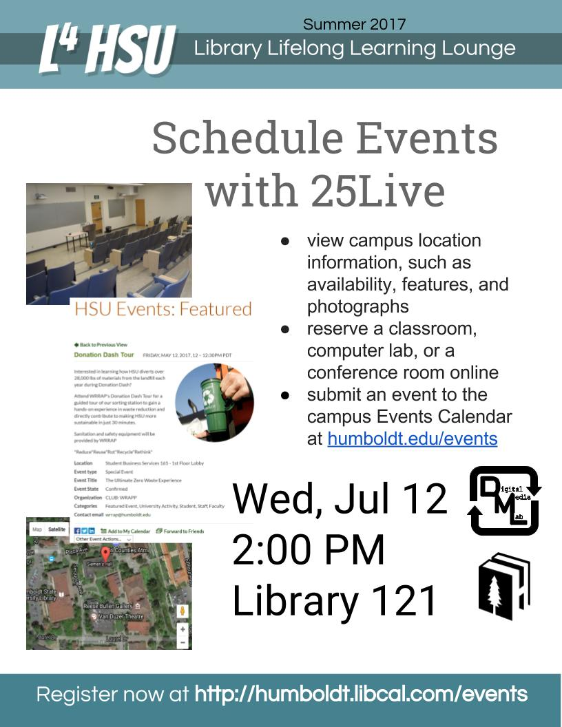 Schedule Events with 25Live