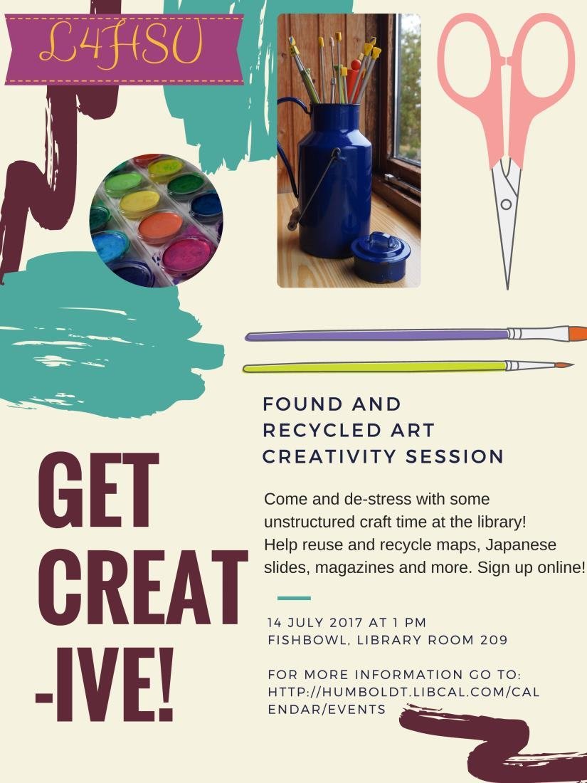 Found and Recycled Art Creativity Session!
