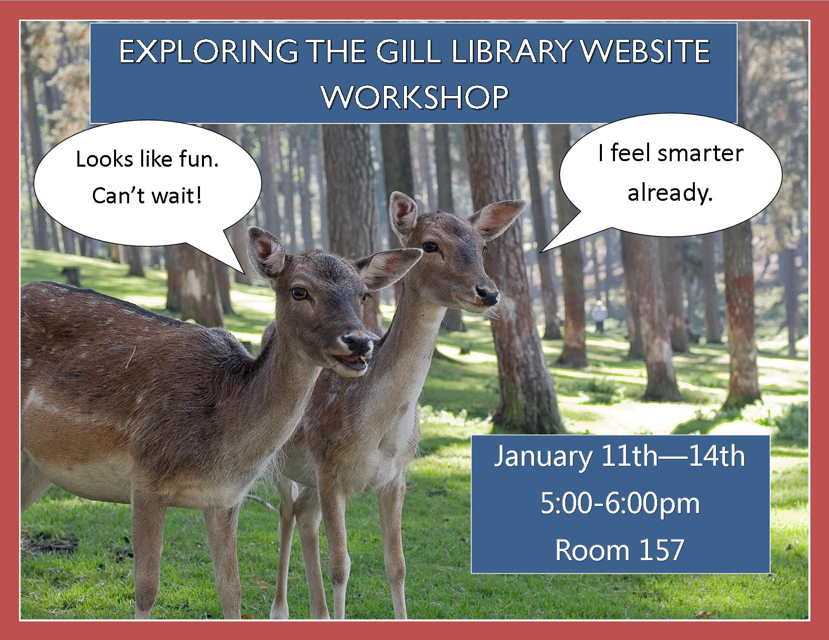 Exploring the Gill Library Website