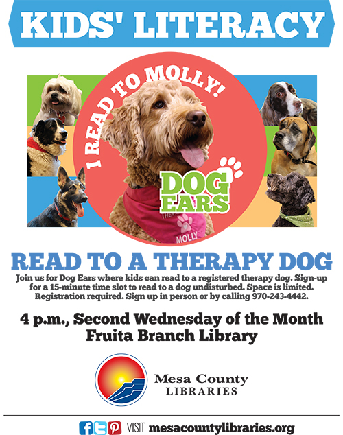 Dog Ears Reading Program - Kids Read to Dogs! - Fruita Branch