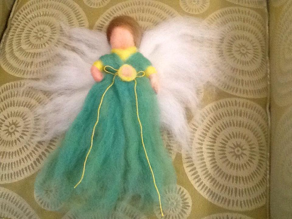 Needle Felted Wool Angels