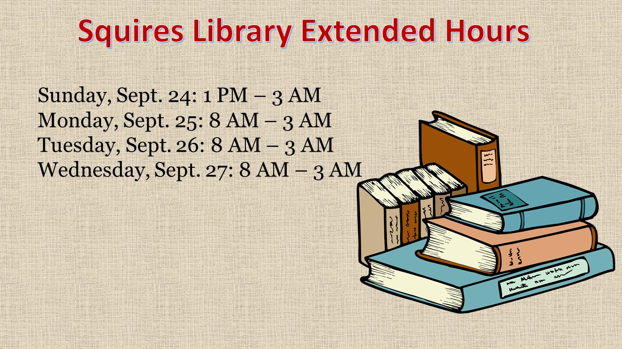 Extended Hours at Squires Library