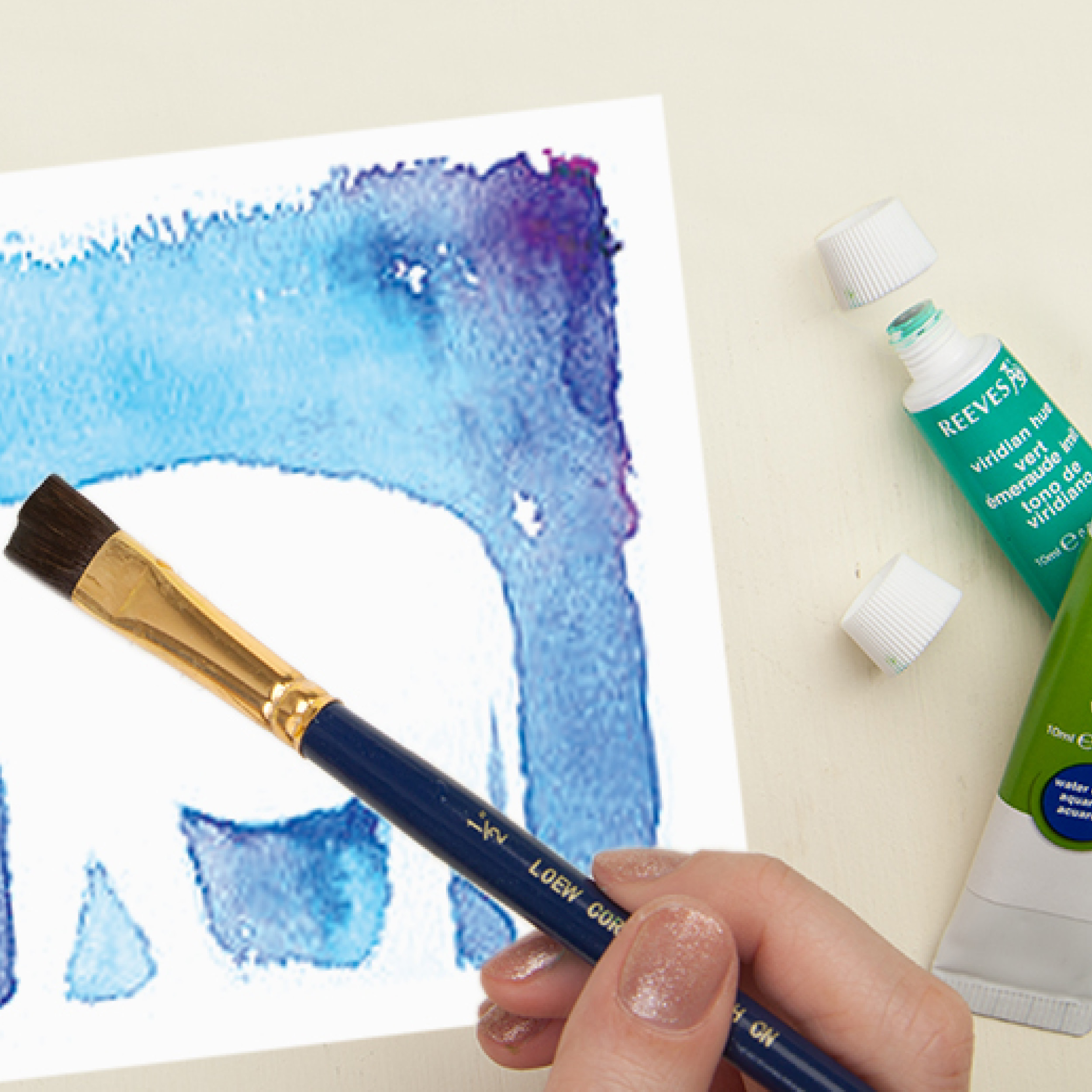DIY Discovery: Watercolor Silhouette Art