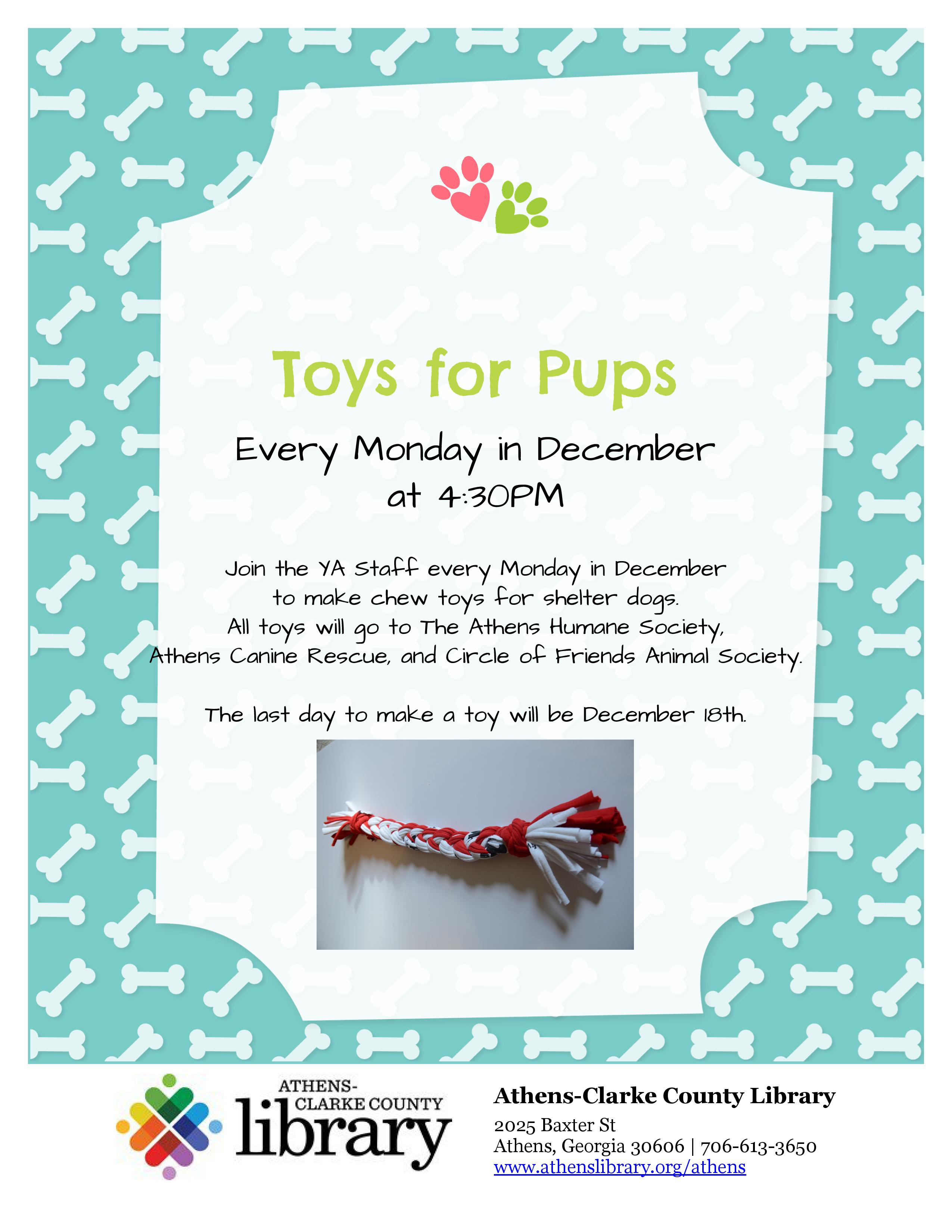 Toys for Rescue Pups