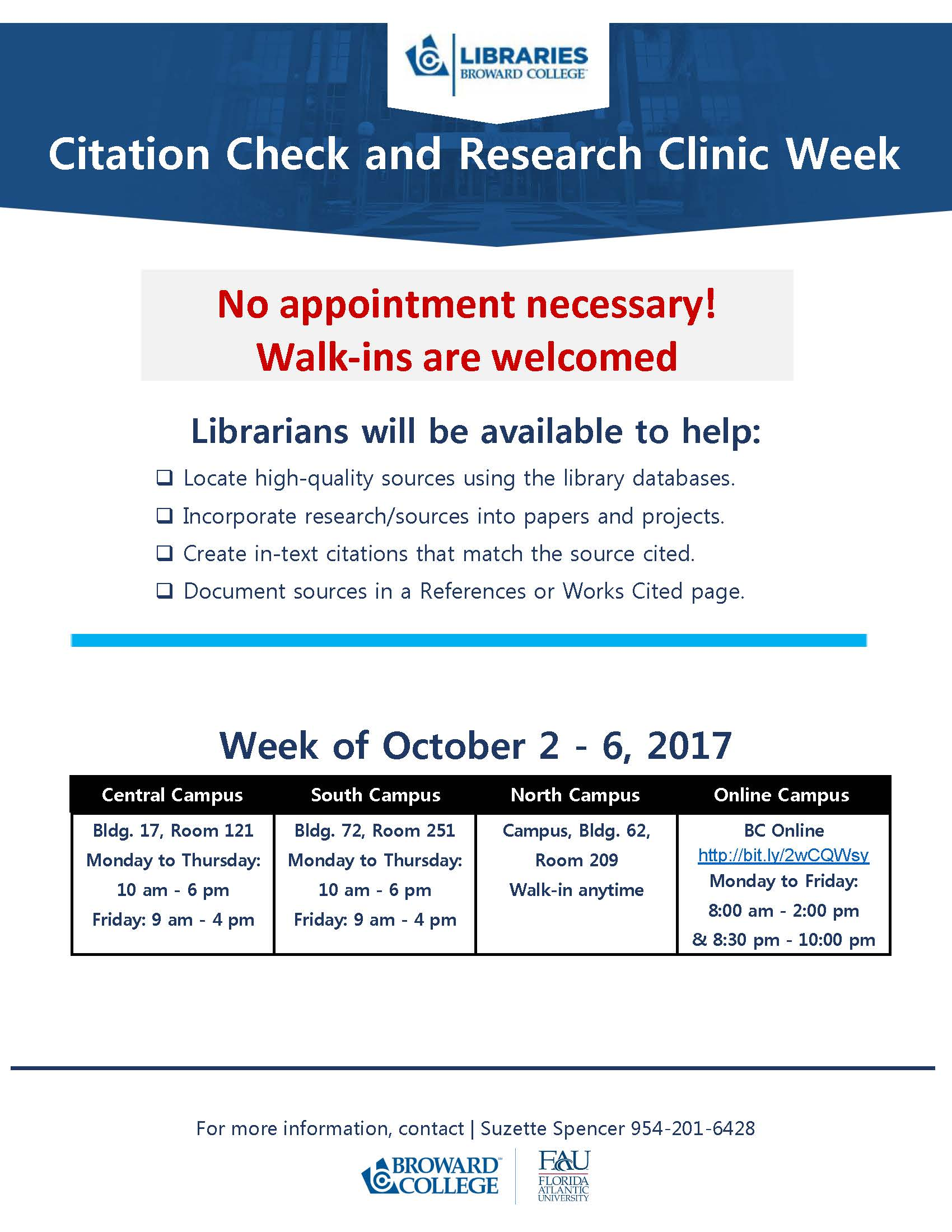 Drop-In Research Clinic - NO APPOINTMENT NECESSARY