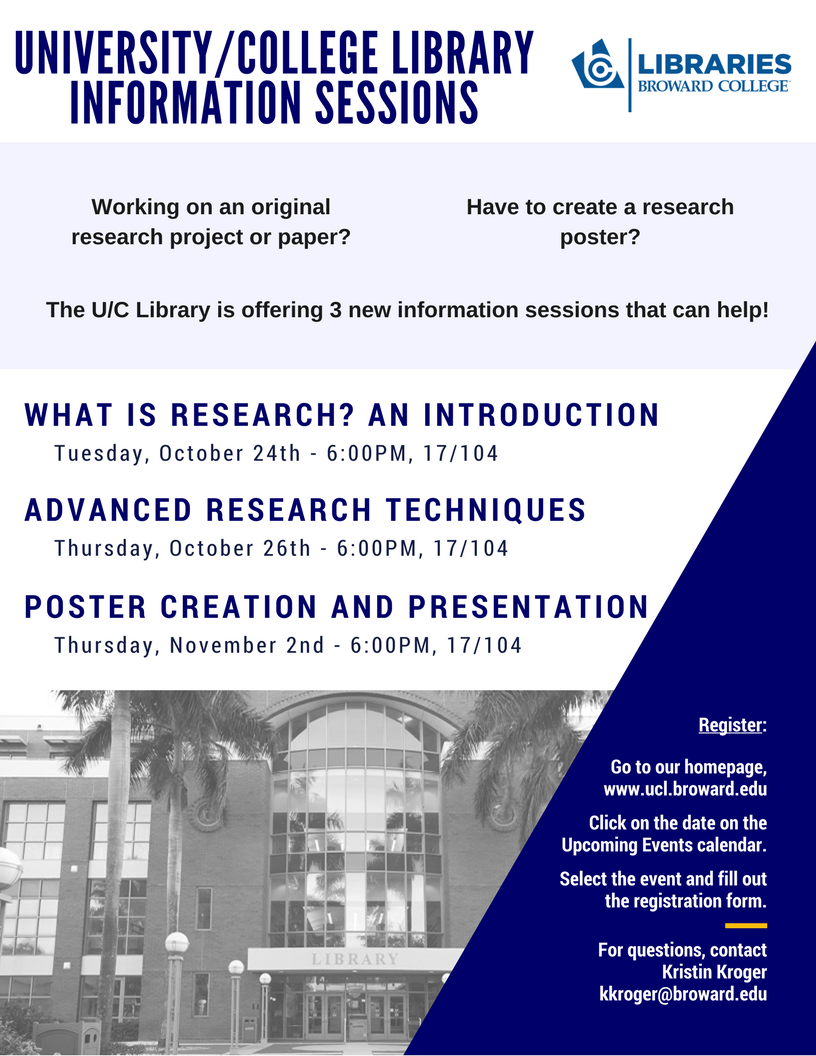 Poster Creation and Presentation