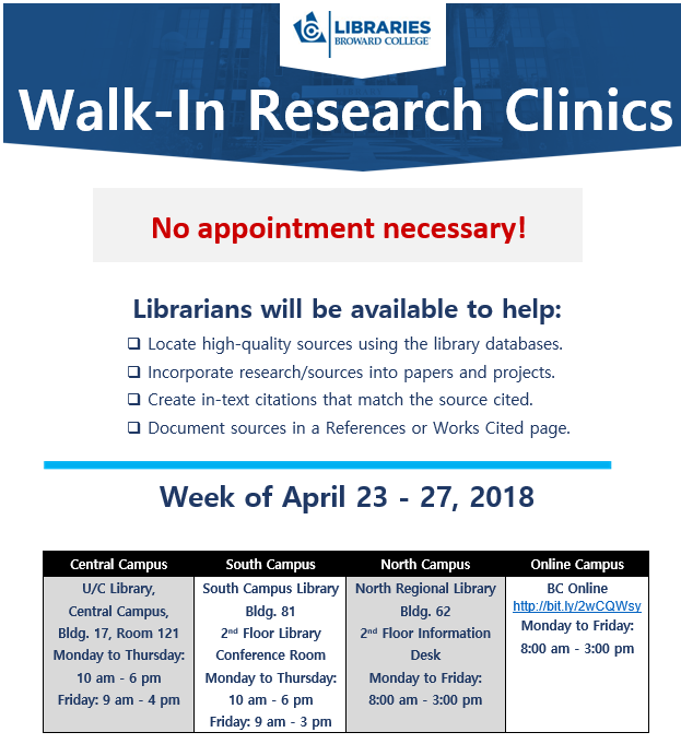 Walk-In Research Clinic