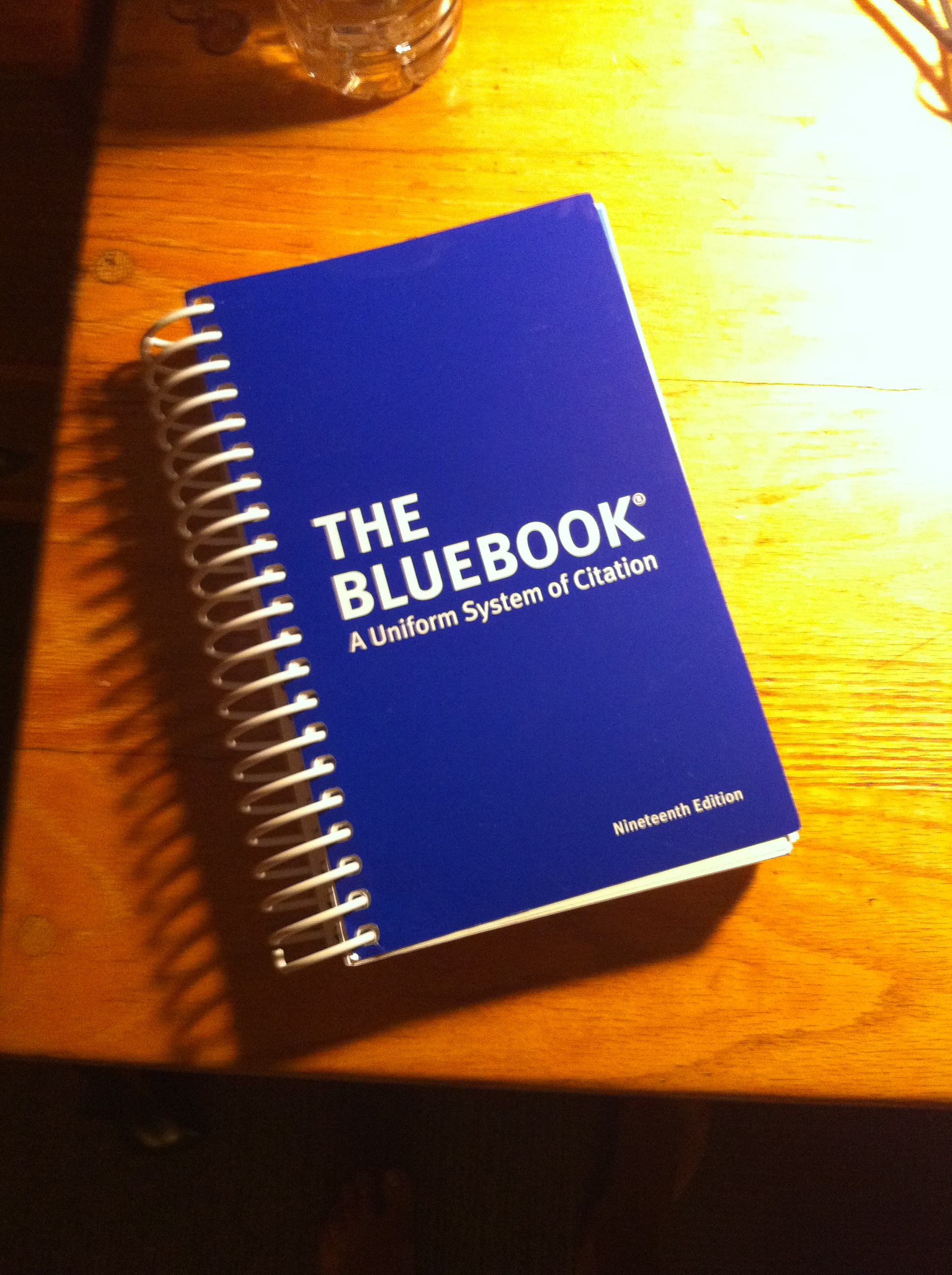 Honors RSW: The Bluebook in Legal Practice