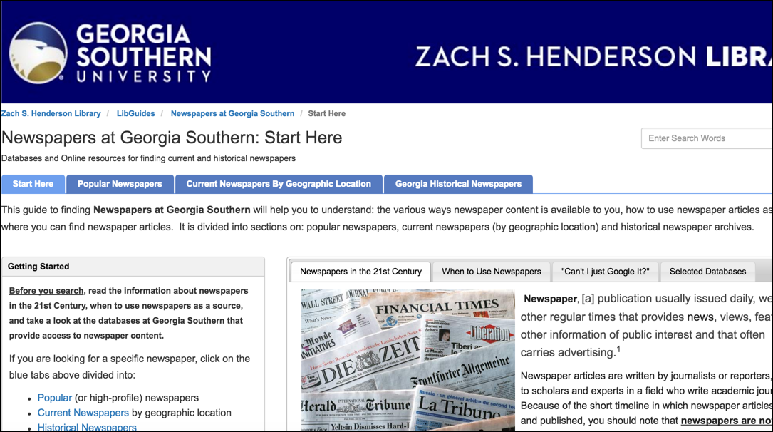 Georgia Southern University: Managing Content Across LibGuides & LIbAnswers