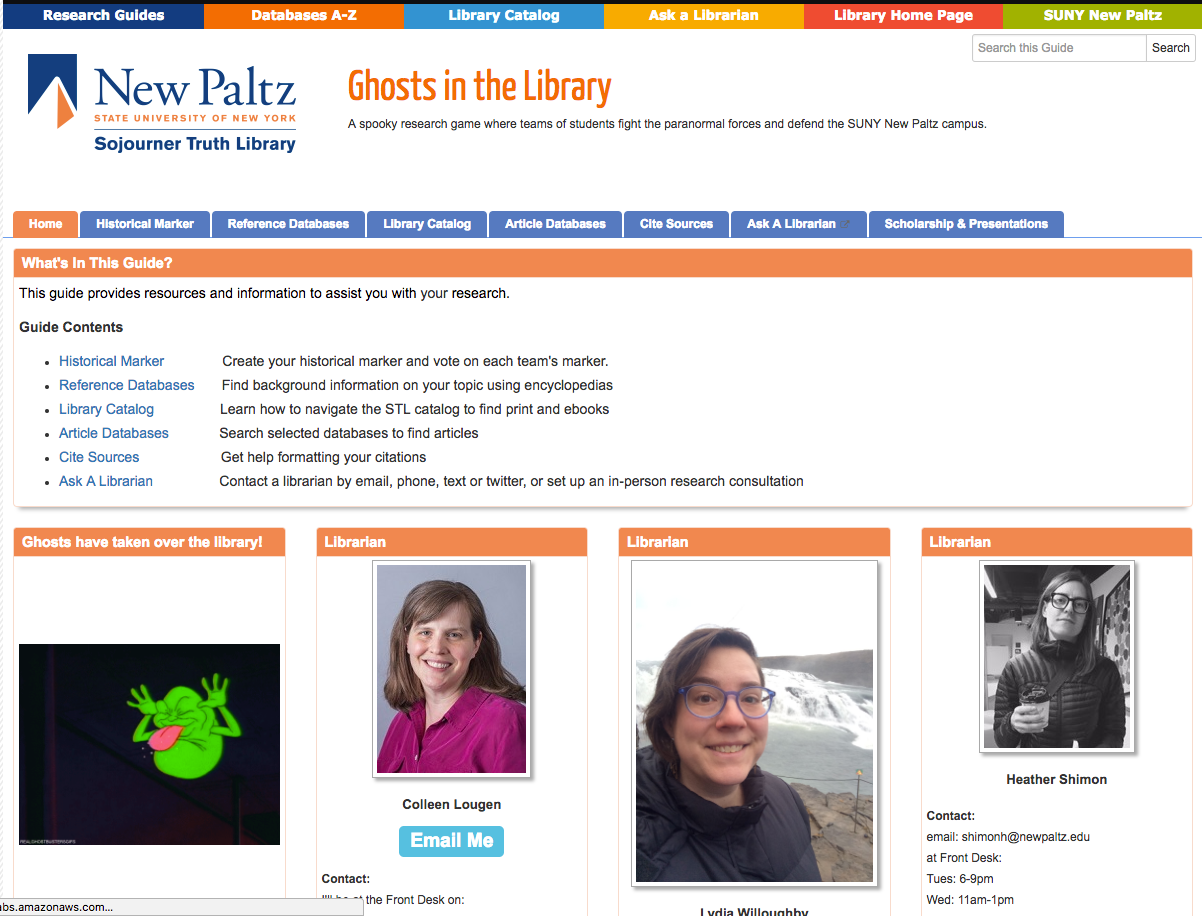 SUNY New Paltz: Ghosts in the Library