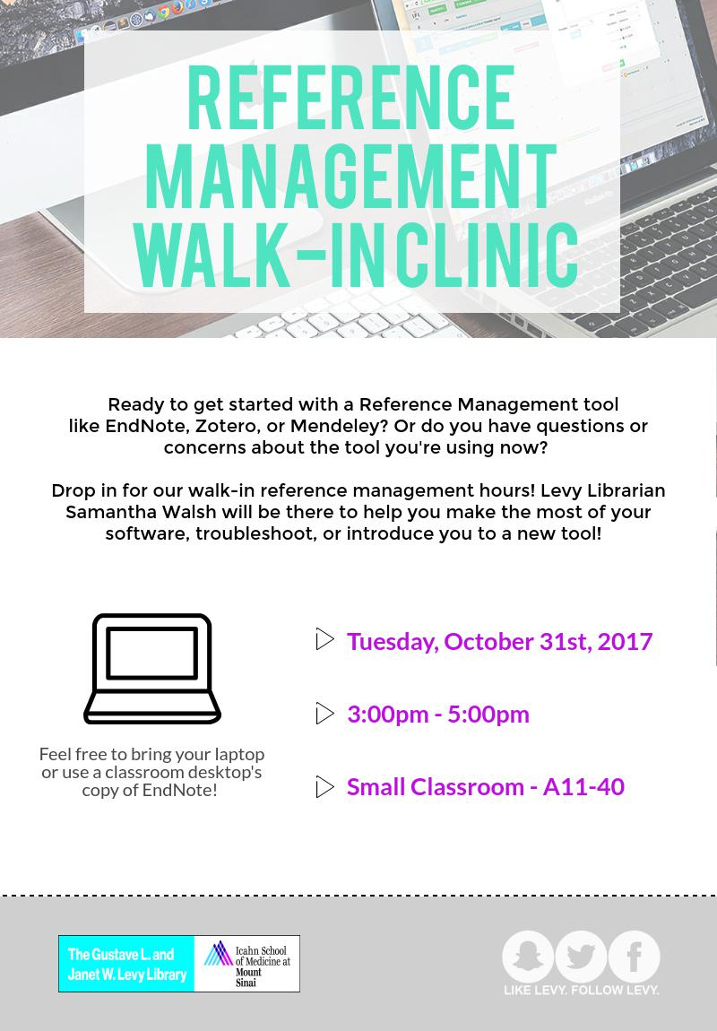 Reference Management Walk-In Clinic