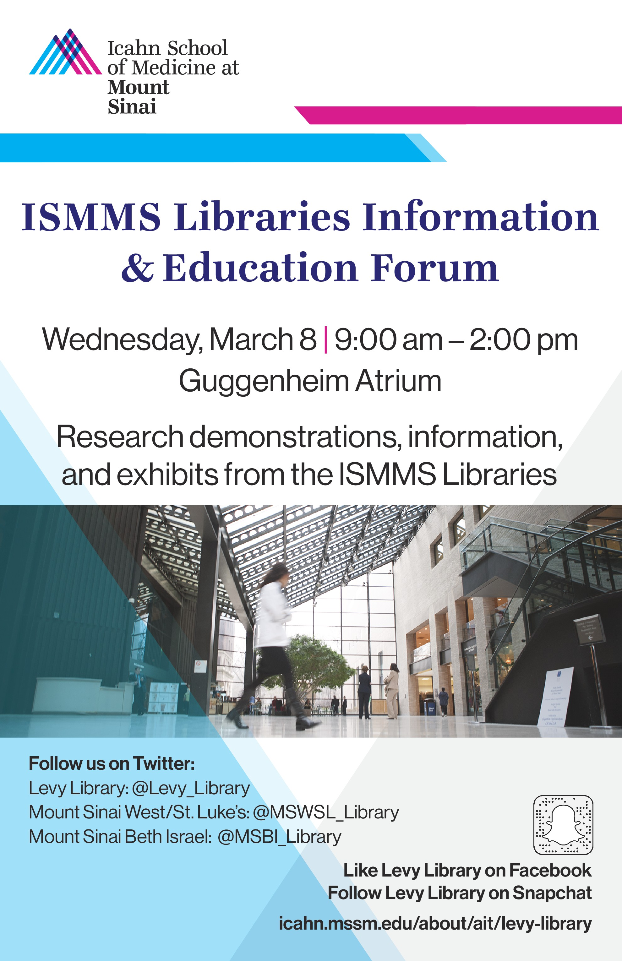 ISMMS Libraries Information & Education Forum