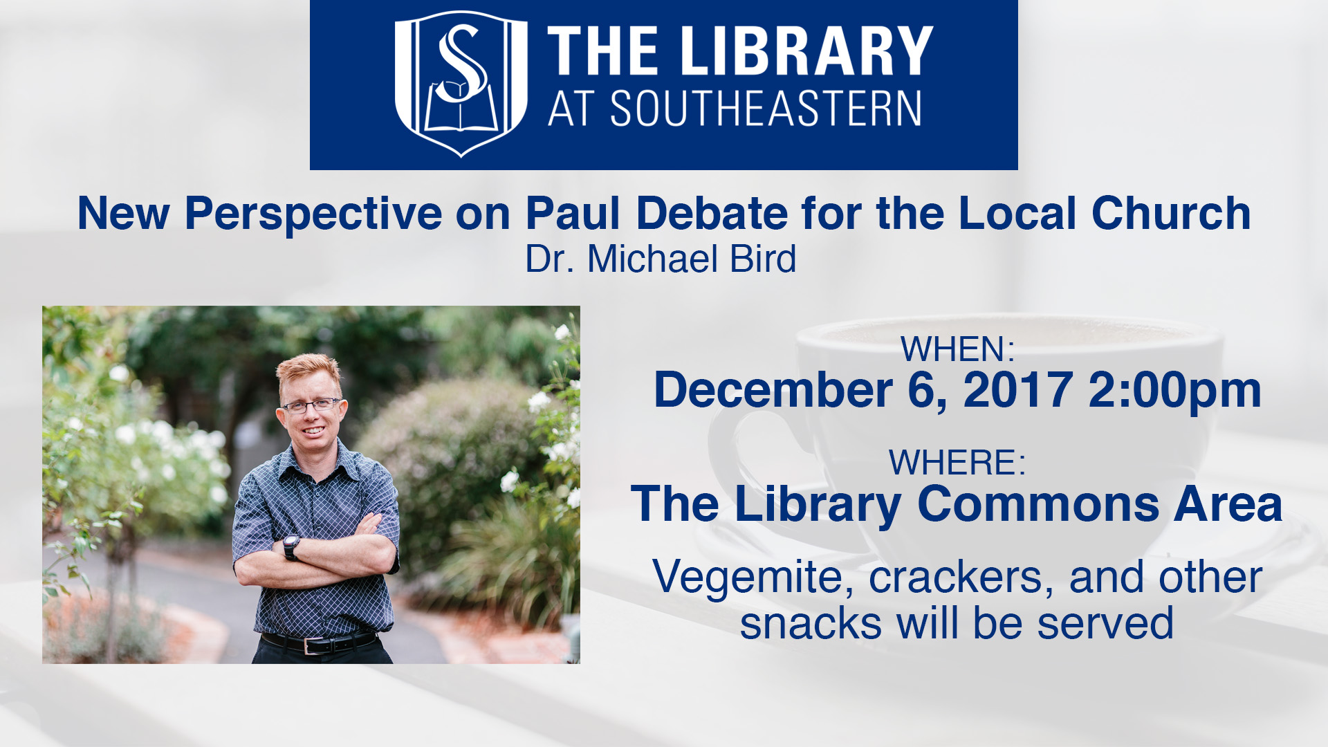Library Talk: Michael Bird