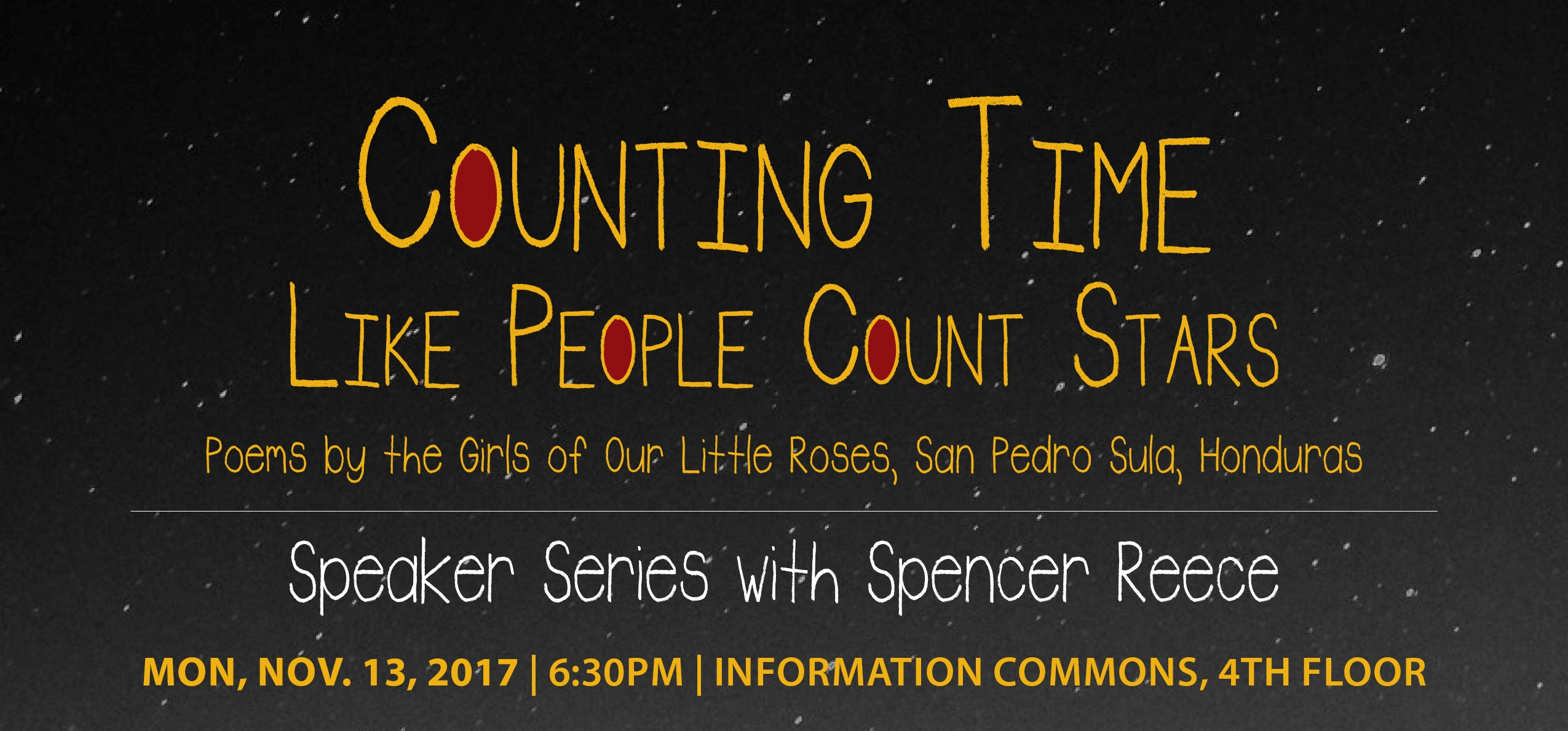 Counting Time  Like People Count Stars: Speaker Series with Spencer Reece