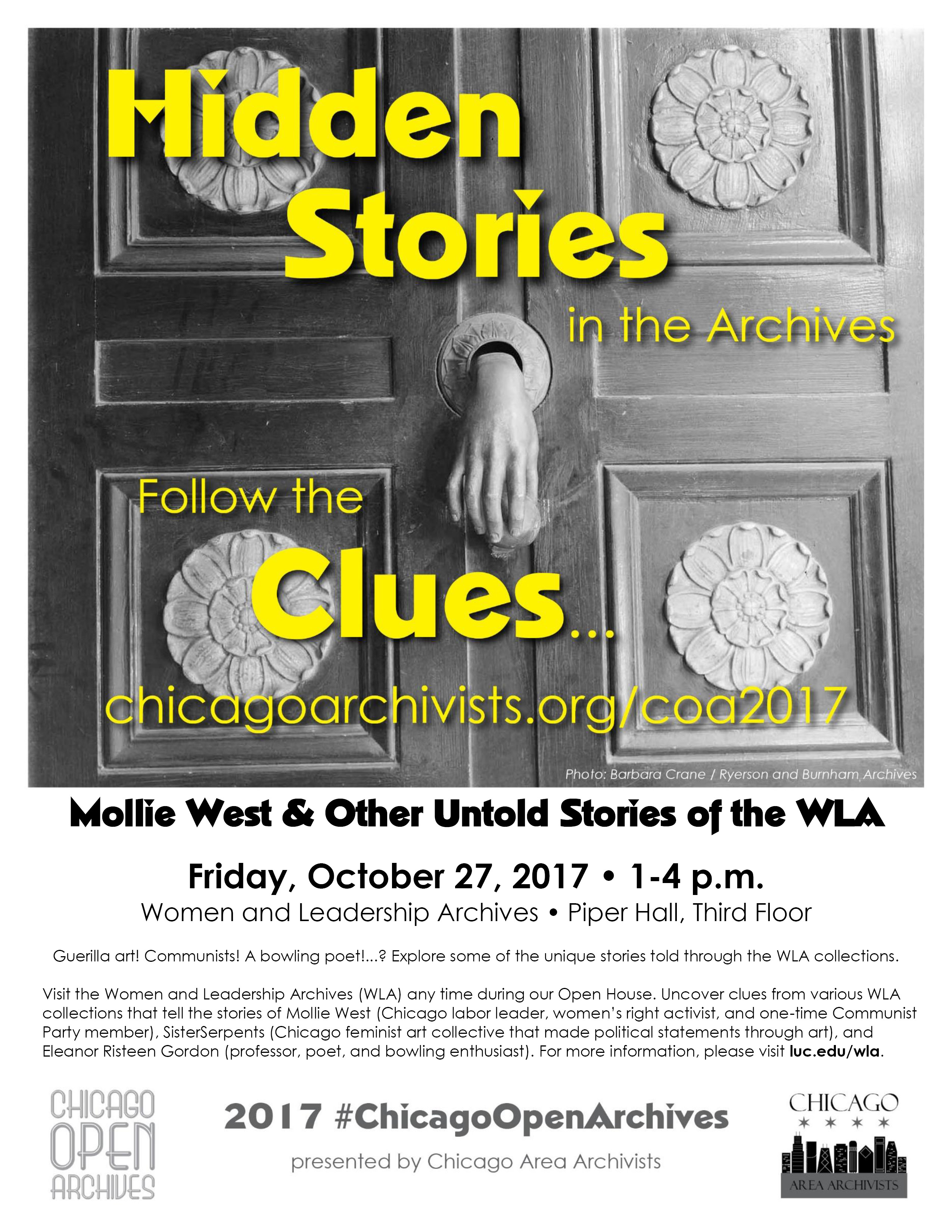 WLA Open House: Mollie West and Other Untold Stories of the Women and Leadership Archives