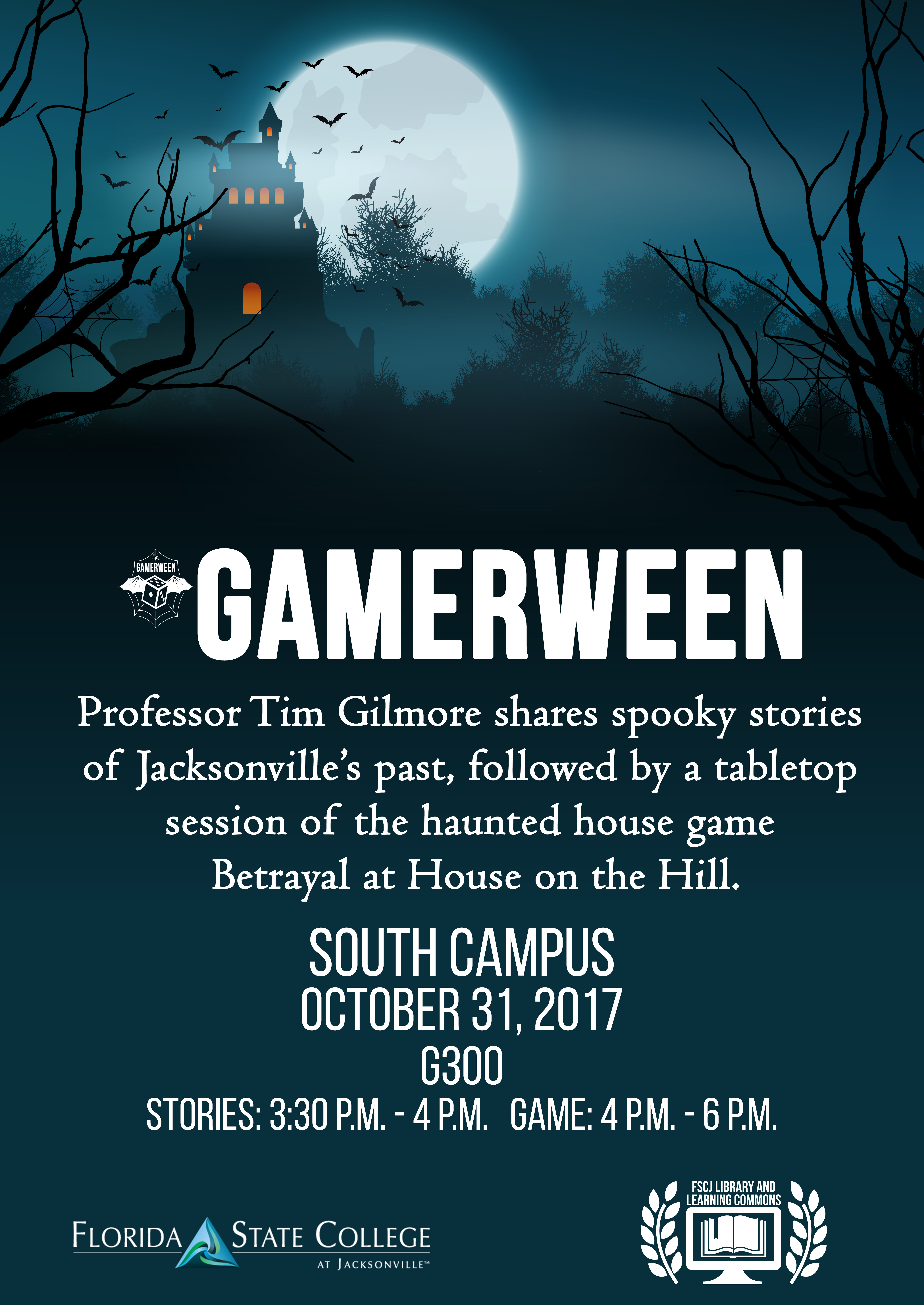 Gamerween at South: Spooky stories and Betrayal at House on the Hill