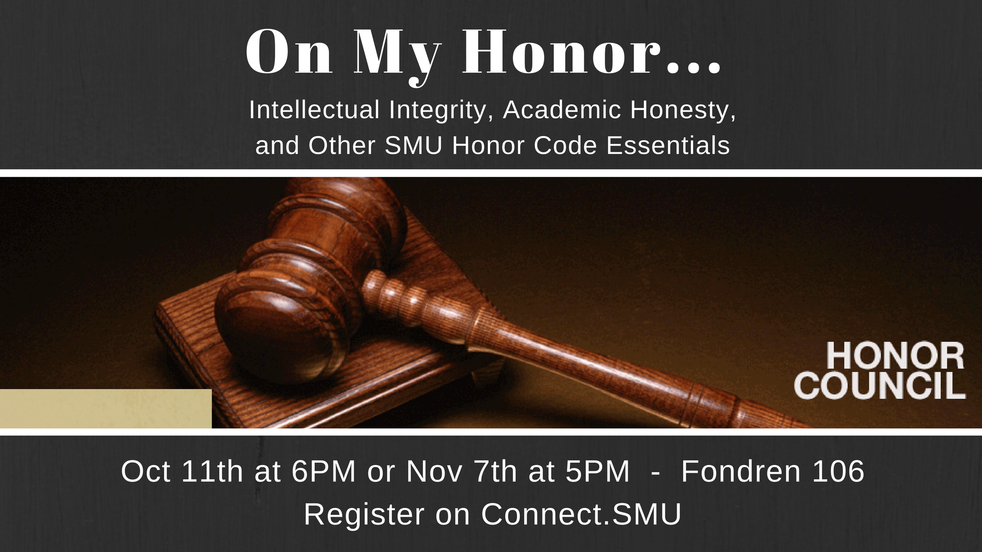 On My Honor: Intellectual Integrity, Academic Honesty, and Other SMU Honor Code Essentials