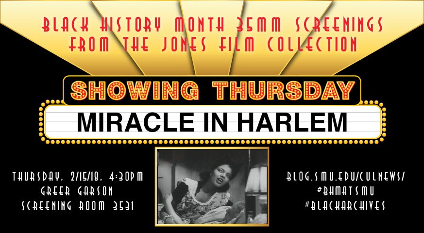 Black History Month - Screening - Miracle in Harlem