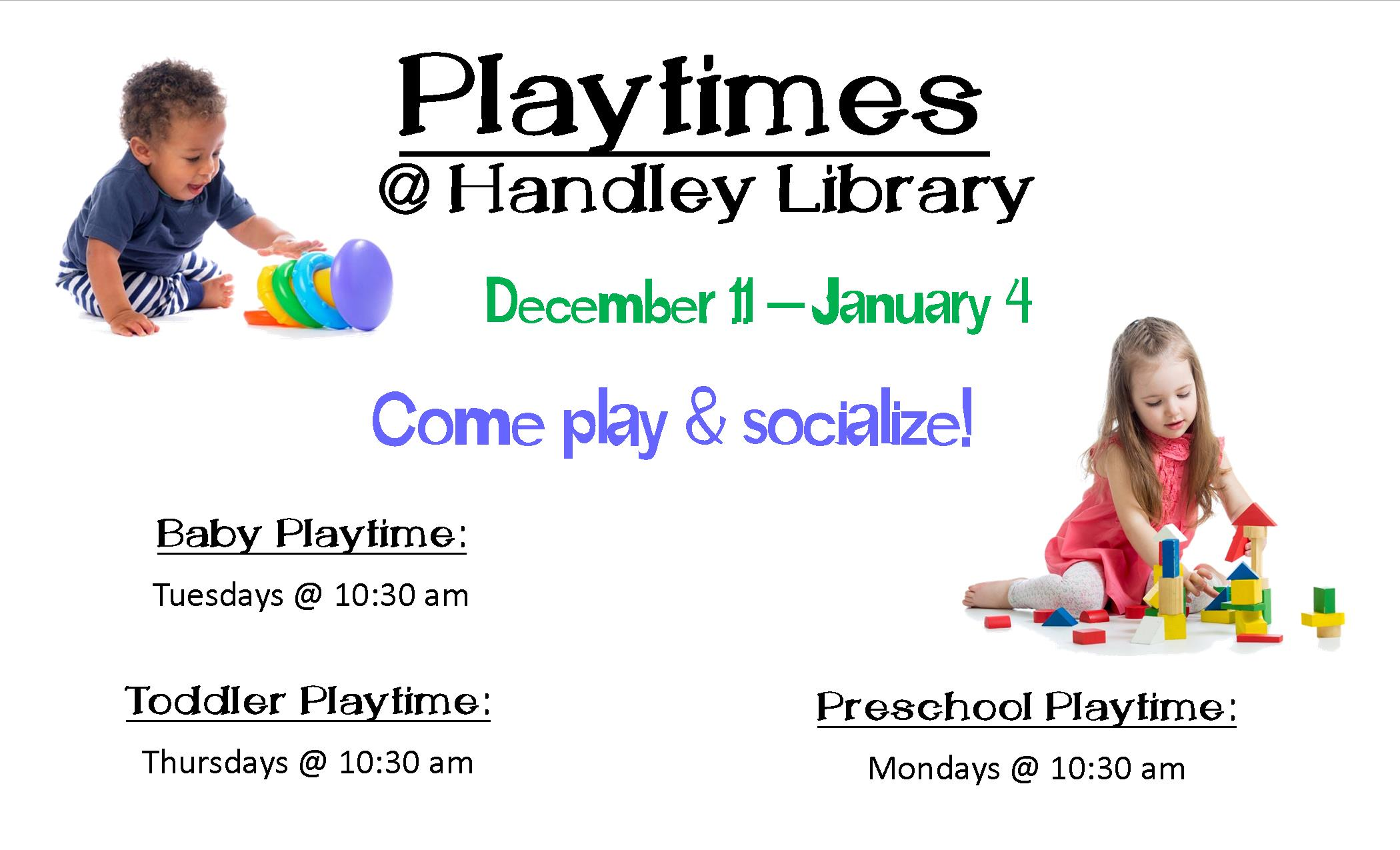 Preschool Playtime- HL