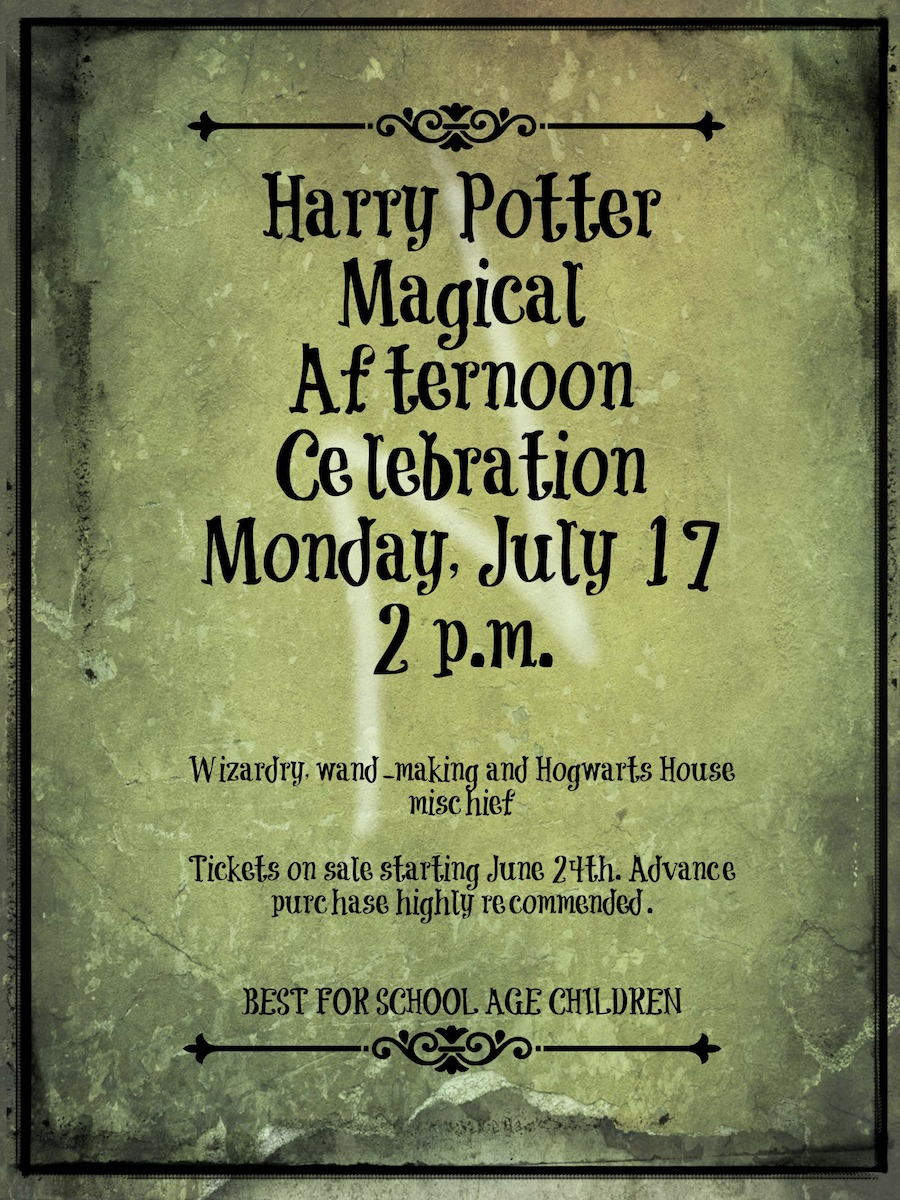 Harry Potter Magical Afternoon Celebration
