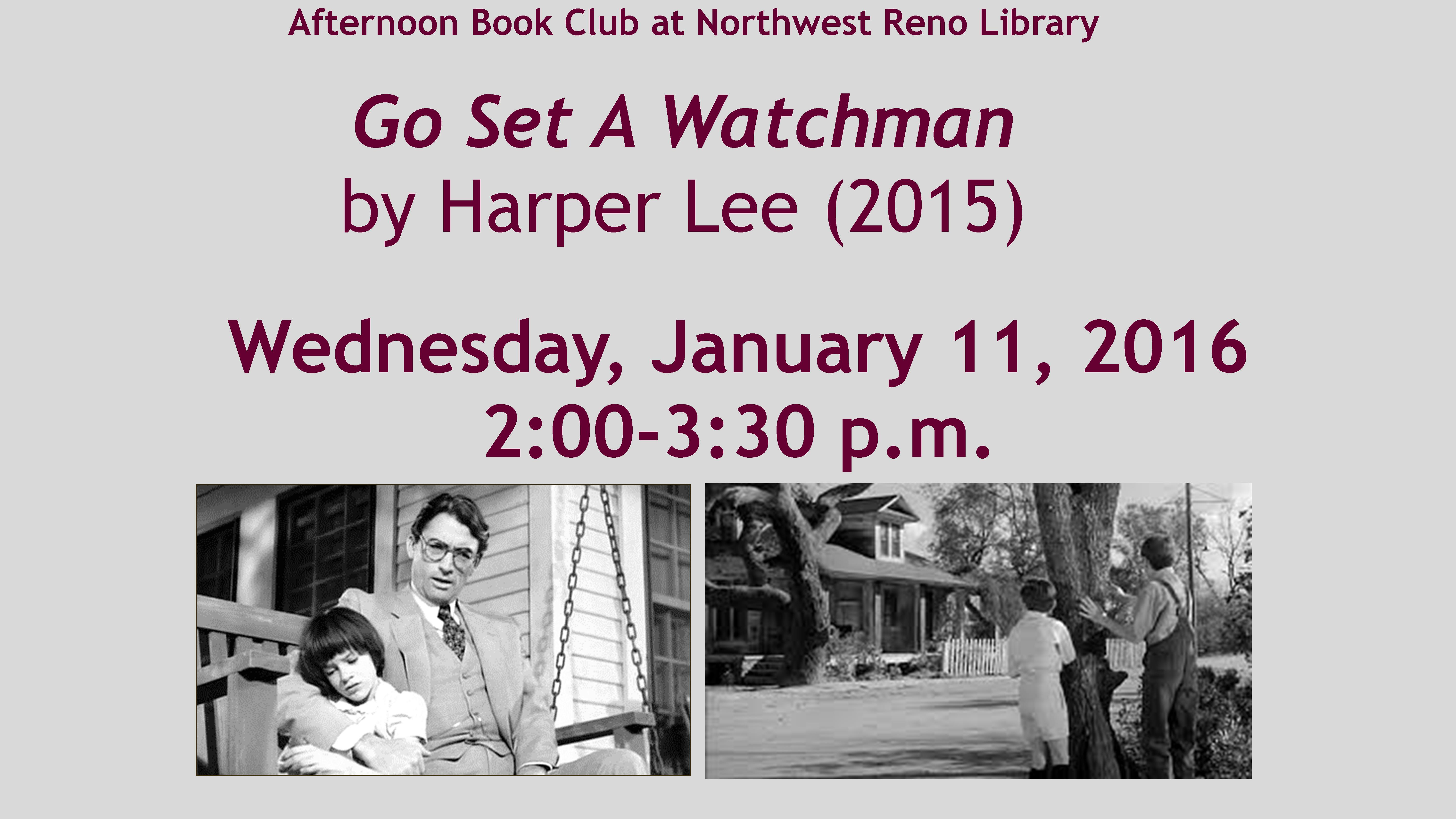 Afternoon Book Club-Northwest Reno Library