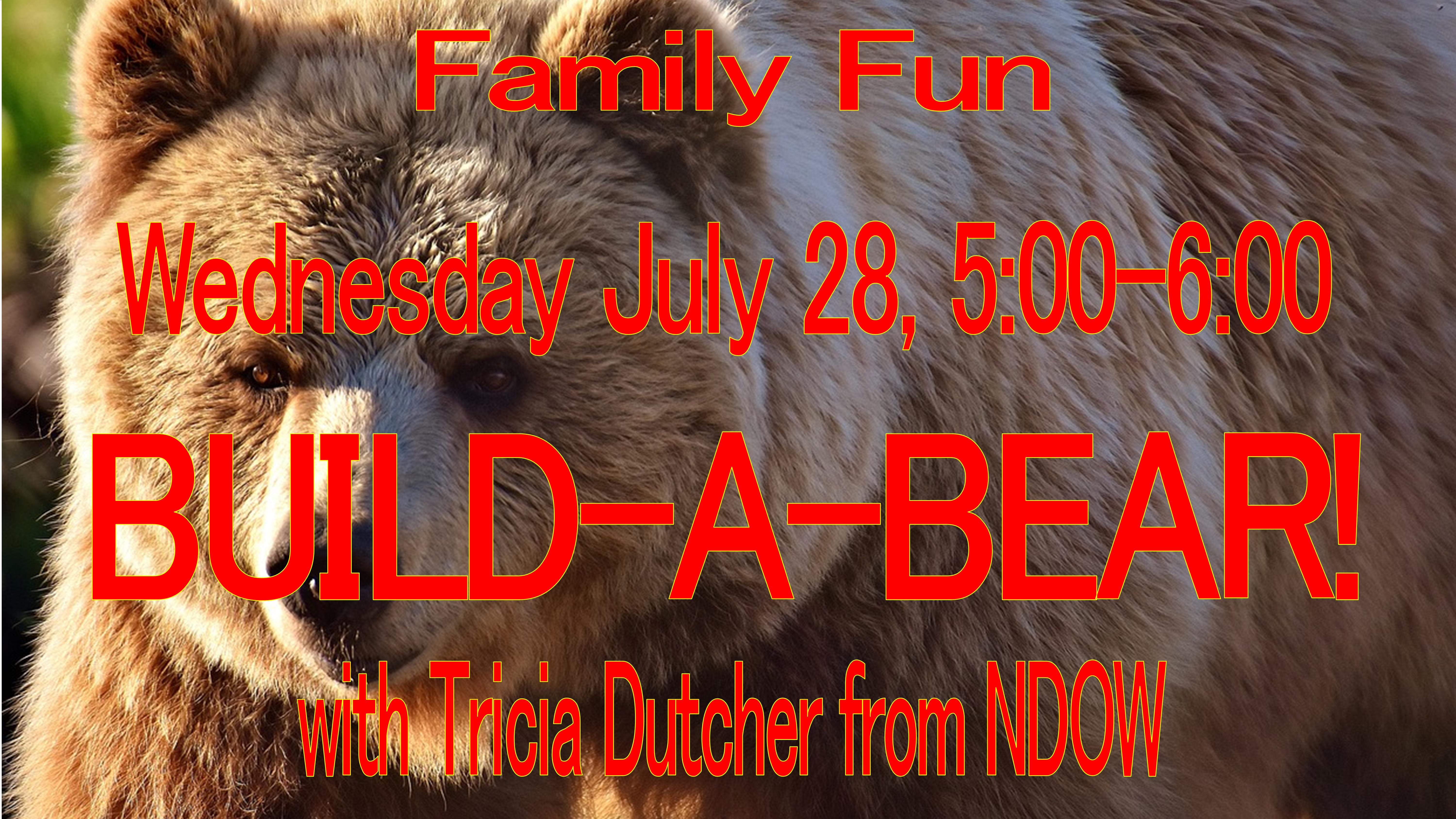 Family Fun Night: Build a Bear with NDOW's Tricia Dutcher