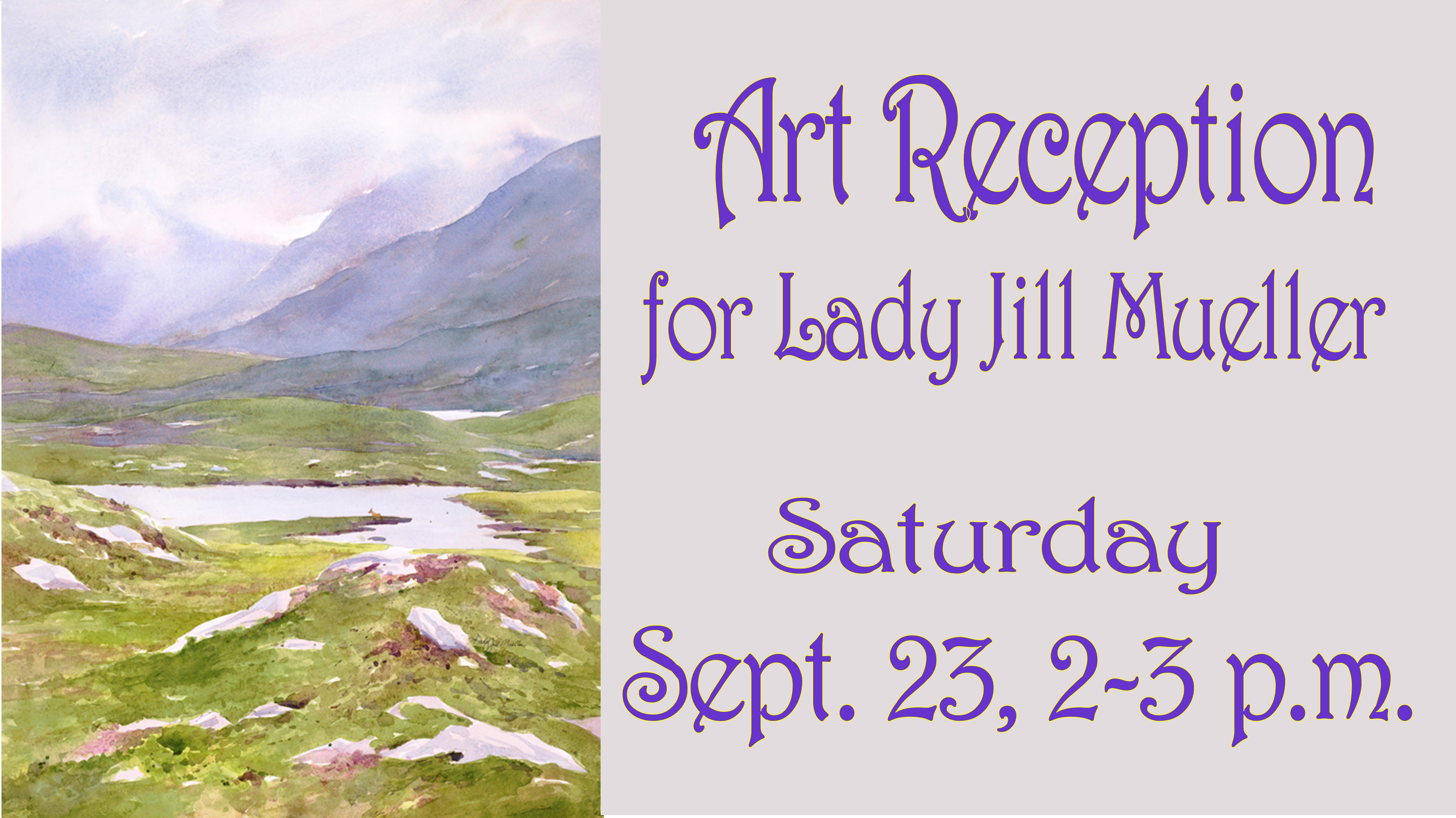 In Our Gallery, Art Reception: A 40 Year Collection of the Art of Lady Jill