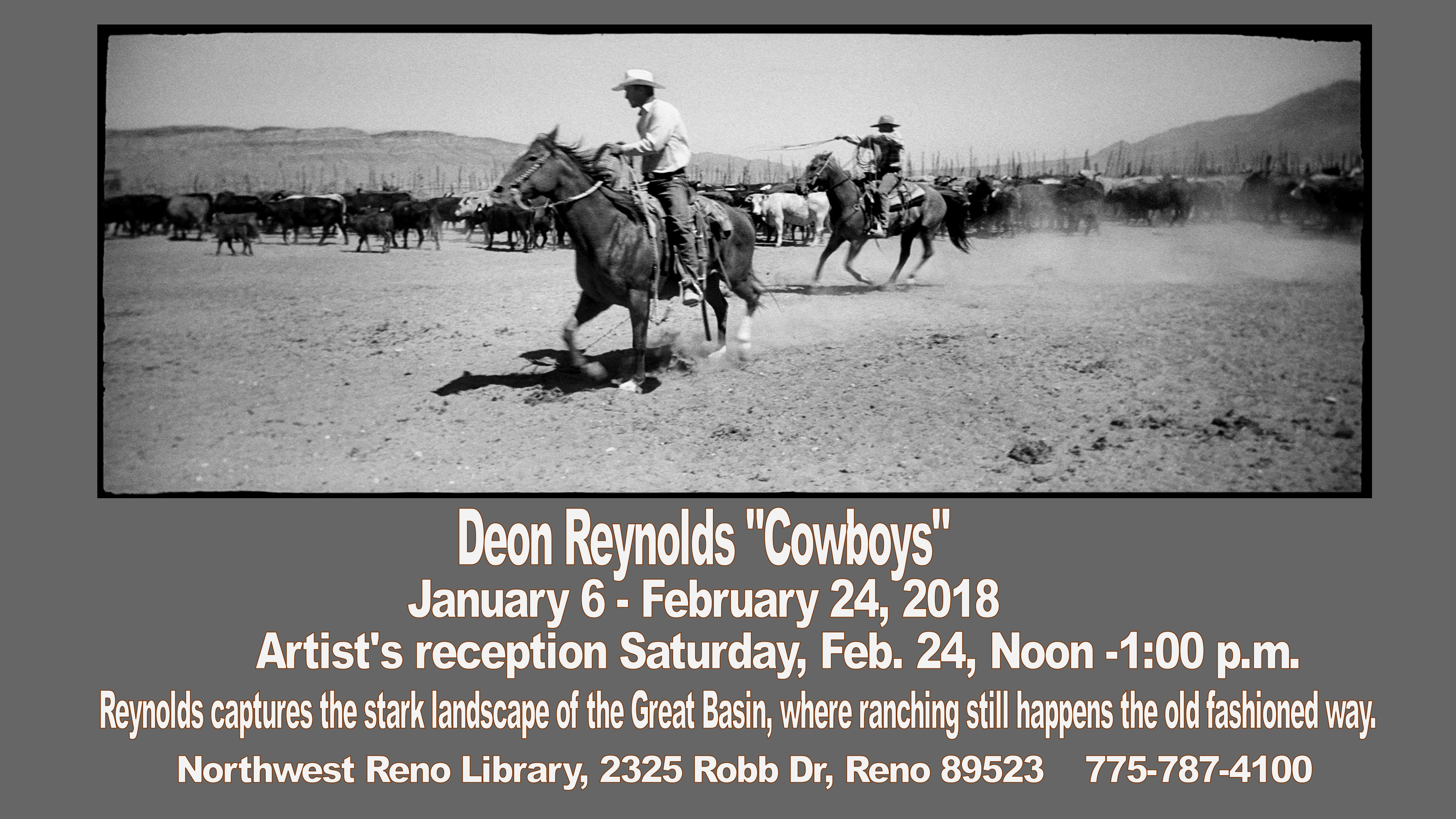 "In Our Gallery: Deon Reynolds' ""Cowboys"" Artist's Reception"