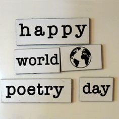 In Celebration of... World Poetry Day