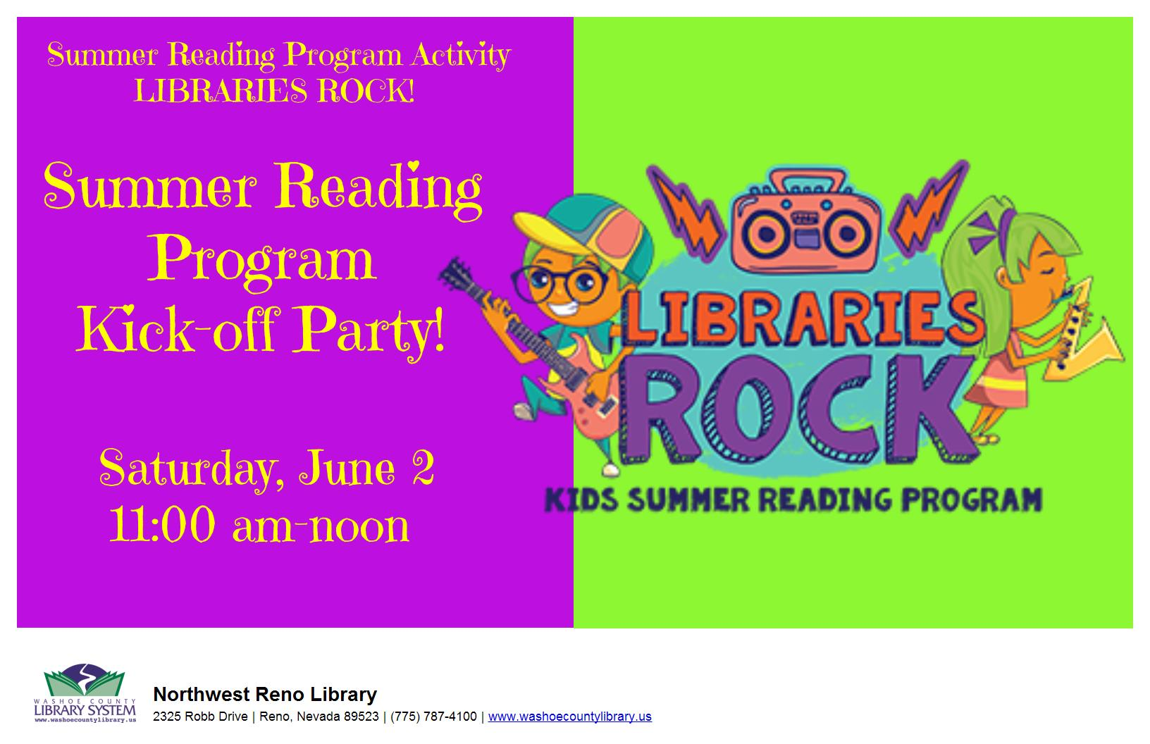 Summer Reading Program Kick-Off Party