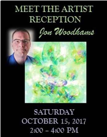 Reception for October Artist of the Month Jon Woodhams