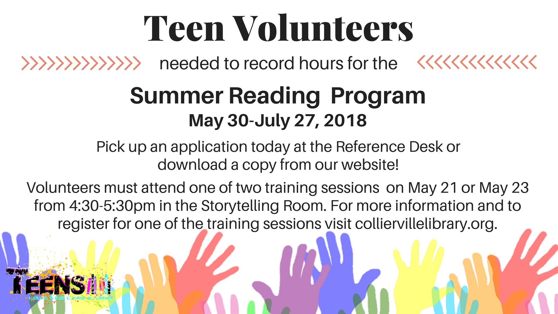 Summer Reading Volunteer Training Session