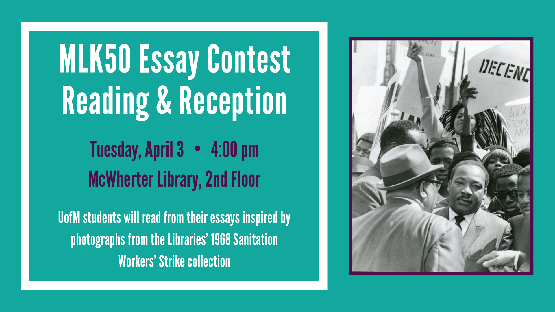 Student Essay Contest Reception and Reading