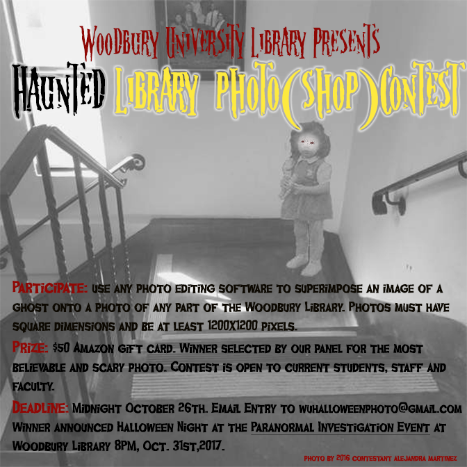 Haunted Library Photo(shop) Contest deadline