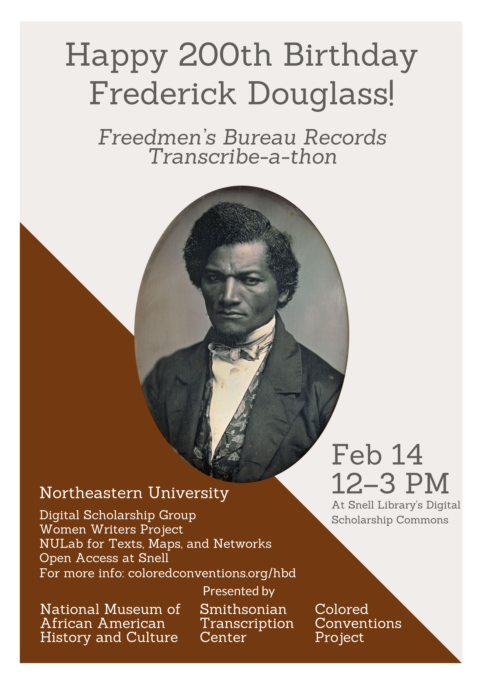 """Douglass Day"" Transcribe-a-Thon (DH Open Office Hours)"