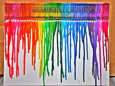 Melted Crayon Monogram Masterpiece