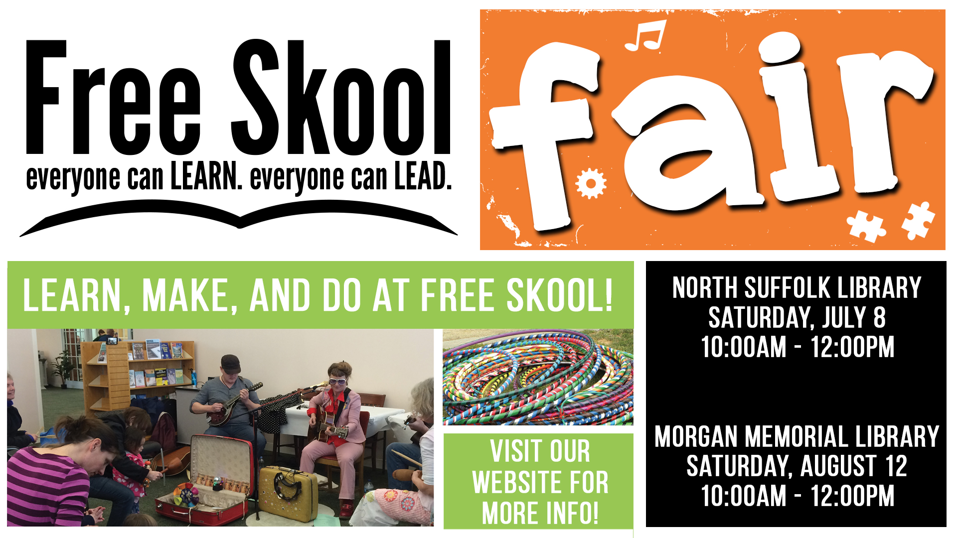 Sizzling Saturdays: Free Skool Fair