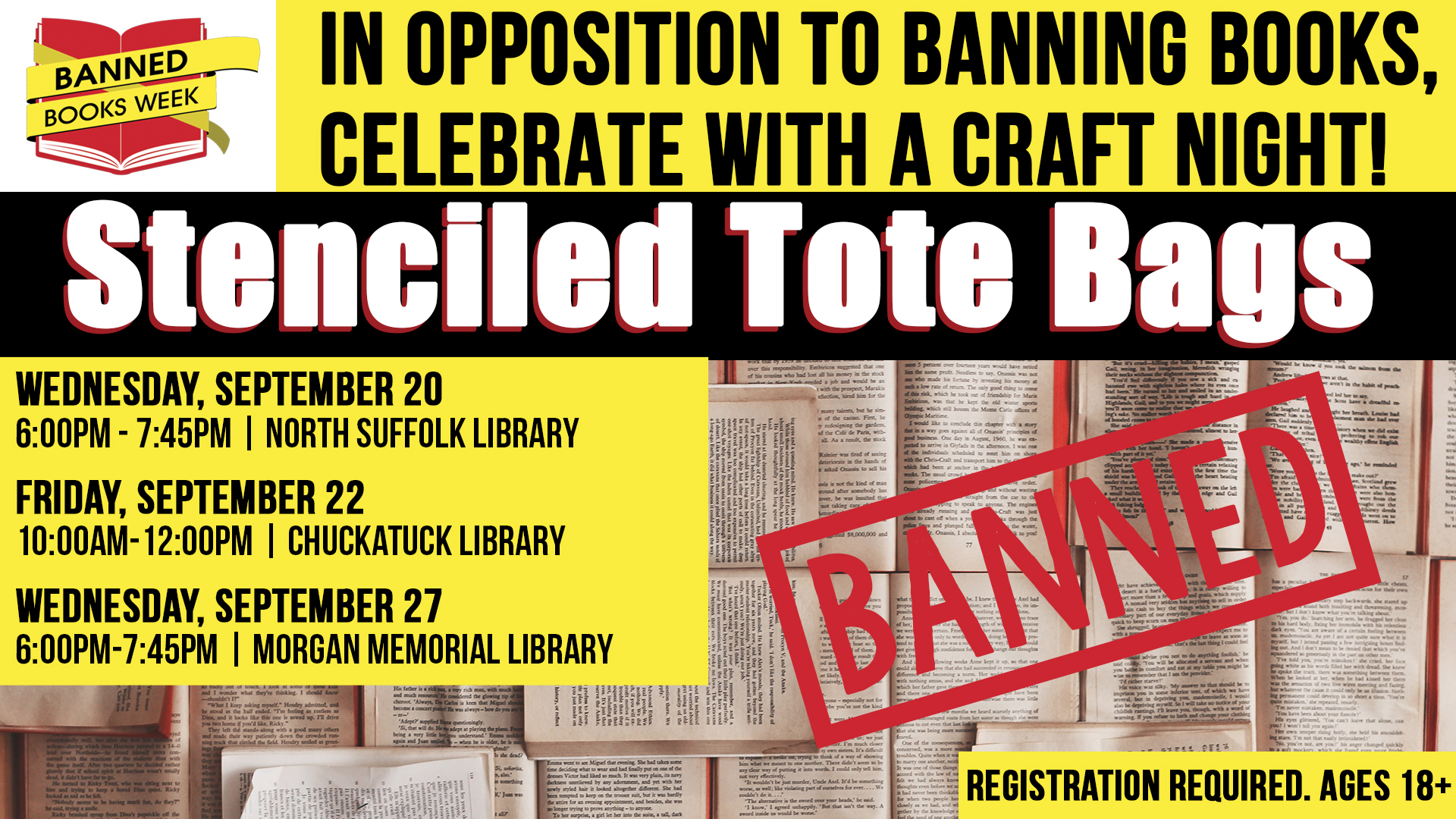 Celebrating Banned Books: Stenciled Tote Bags