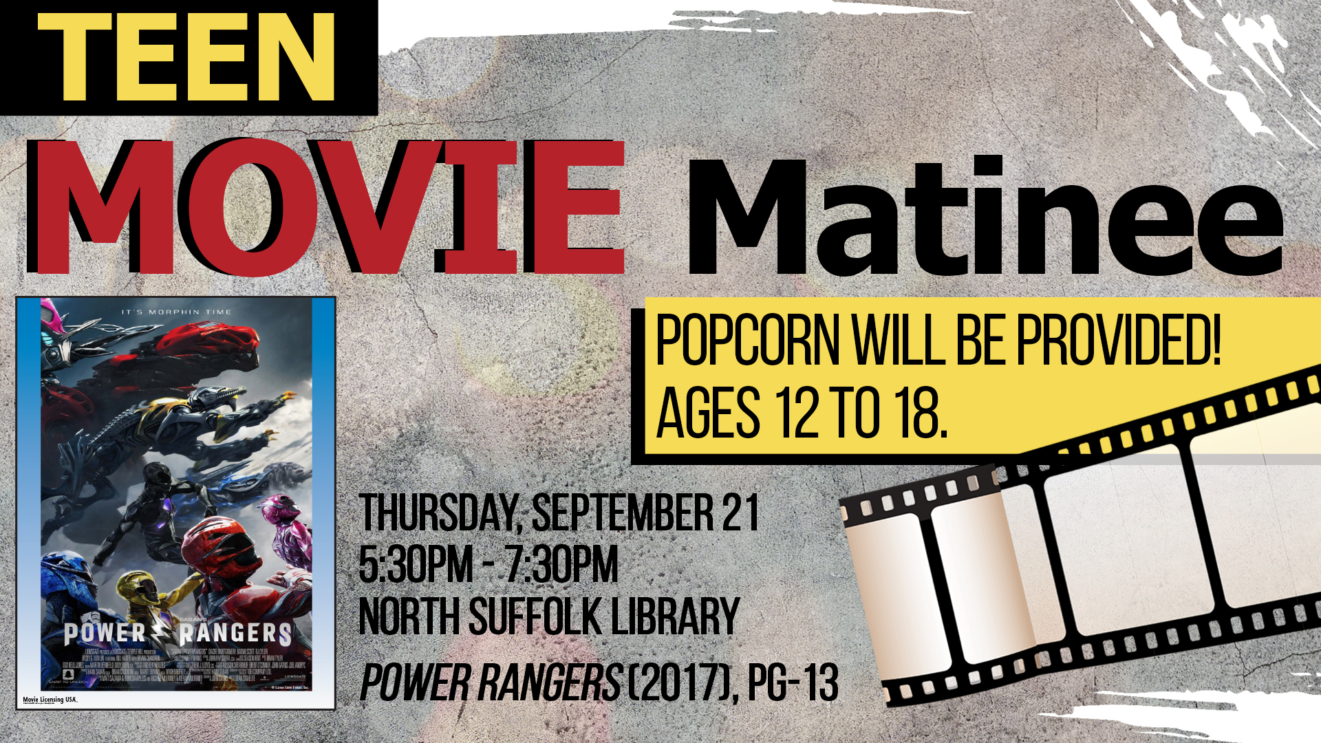 Teen Movie Matinee: Power Rangers