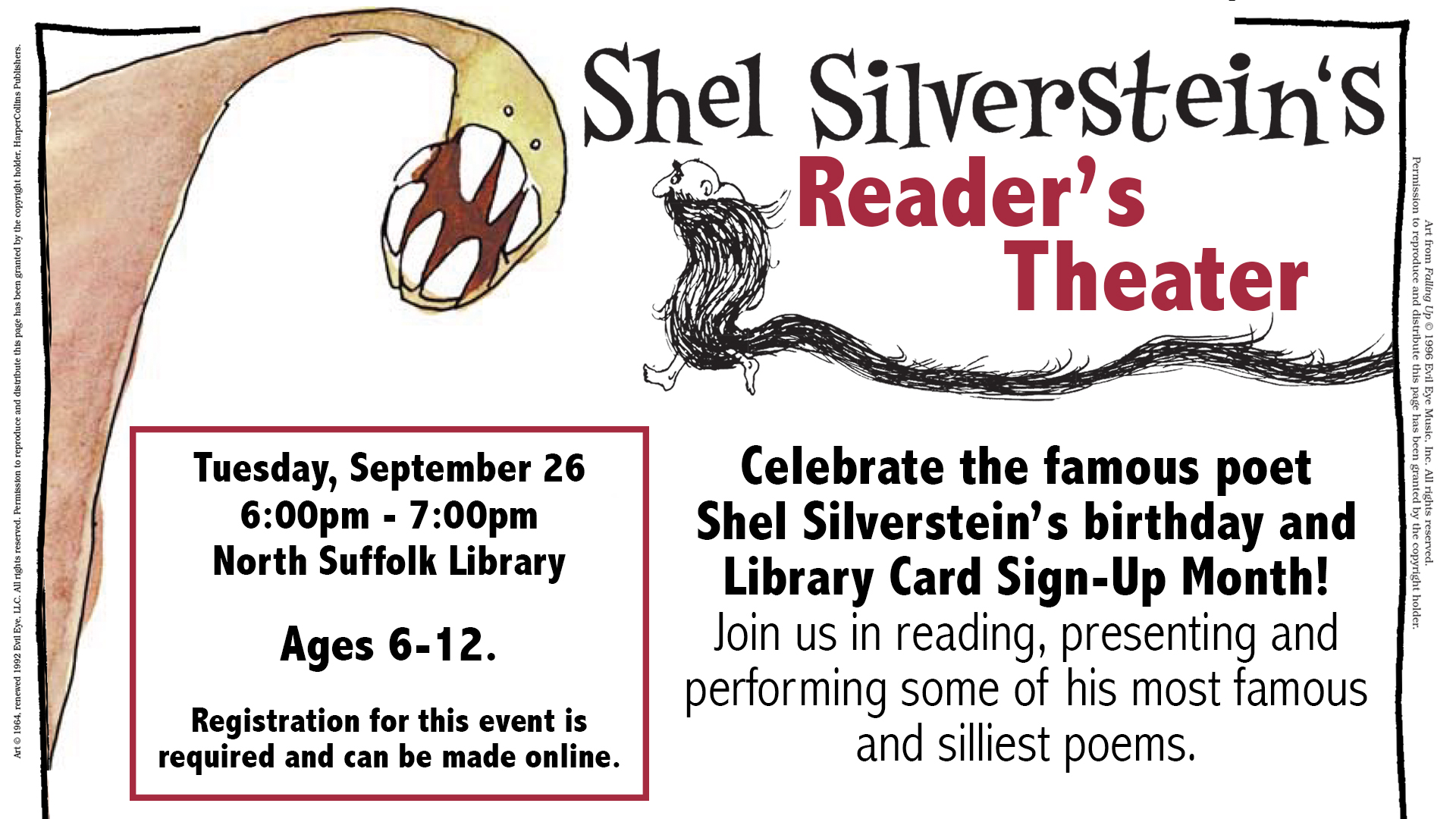 Shel Silverstein's Reader's Theater: Library Card Sign up Month