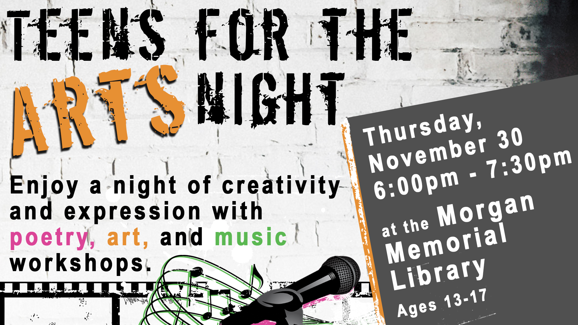 Teens for the arts night