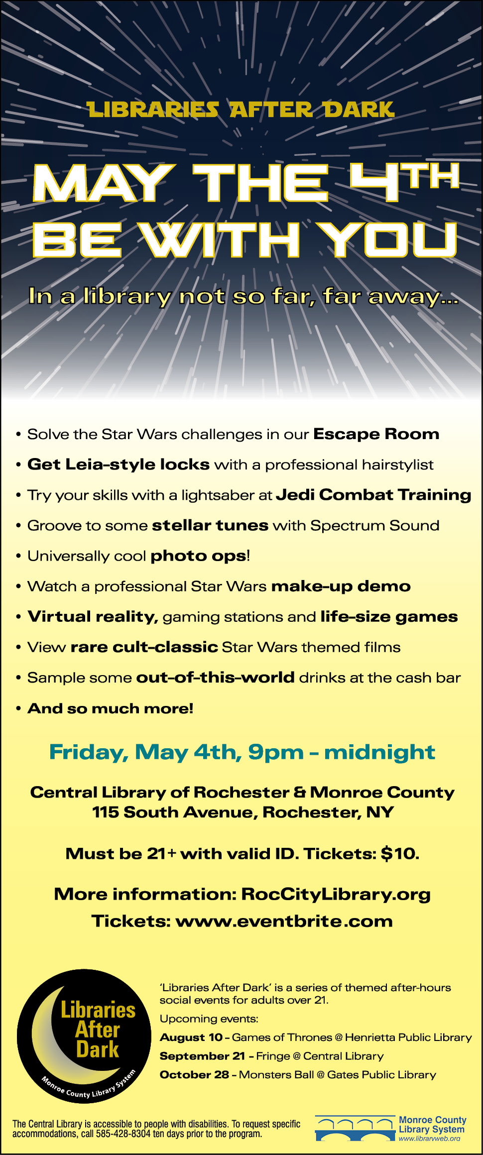 Libraries After Dark -- 'May the 4th Be With You' Star Wars themed social event