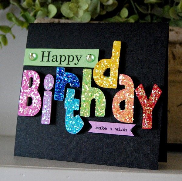 LEARN HOW TO MAKE GLITTER CARDS