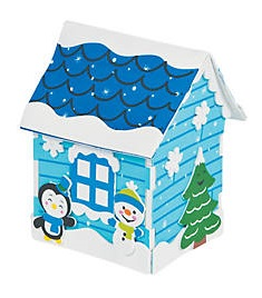 Tween Craft: 3-D Snowman House